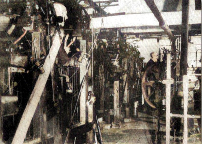 1950: Inside the interior of John Dovey's workshop.