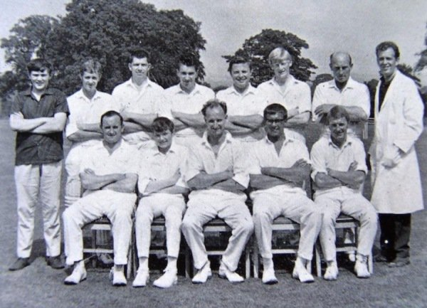 1968 - Back Row: Robert Cooper (Scorer), David Martin, Eric Evans, Roy Linnington, David Taylor,  Peter White, Ken Poole, Ron Wright (Umpire, usually wicket keeper) - Front Row: Rex Little, Michael Milner, Richard 'Dick' Pickering (Capt.), Brian Little, David Staples.