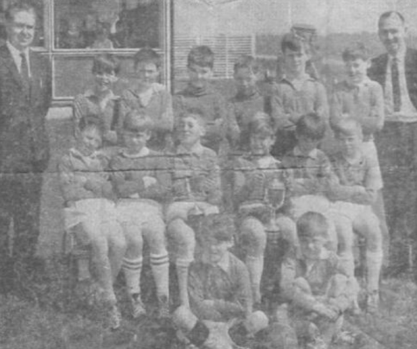Sir John Sherbrooke circa 1965 - Top Row: Mr WA Clifton (Headteacher), John Walton, Barry Tones, Alan Farmer, Charles Truman, Rob Garley, Paul McIntyre, Mr R Anderson (Team manager) Second Row: Terry Prince, Frank Smallman, Kenneth Atkinson, Malcolm Snowball (Captain), Ian Cairney, Raymond Knox.