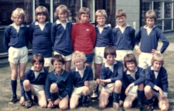 Sir John Sherbrooke 1977 K.O. Cup Winners - Back - L-R = Peter Rogers, Richard Inger, Robert Williams, Michael Green, Adrian 'Adie' Allen, Alan Sewell, David Melaugh Front - L-R = John Truman, Ian Todd, Nigel Aiston, Richard Atkin, Mark Fleetham, Patrick Bramwell.