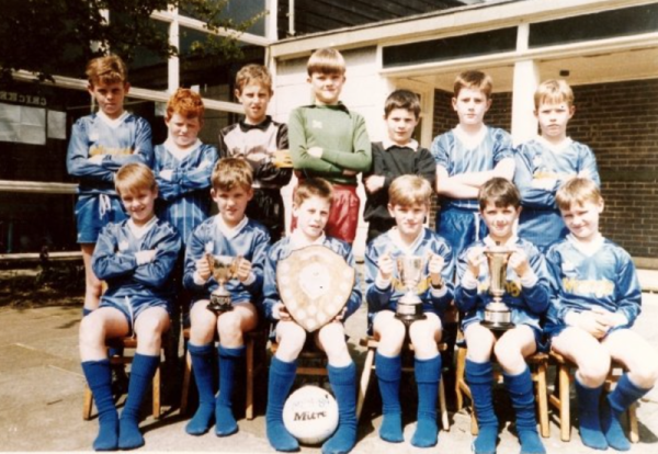 Under-14 team circa 1991 - This picture includes: Porky Shelton, Thomas Roden, Malcolm Williamson, James Pipes, Joss Gainford, Lee Hazeldine, Roy Armstrong, Kevin Black and Damian Marks.