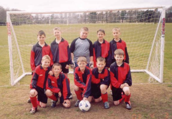 Sir John Sherbrooke 2002/03 League Champions - Back Row - Left to Right: Justin Goddard, Wesley Pettitt, Luke Craven, Craig Todd, Jake Burns Front Row - Left to Right: Jake Surgey, Callum Moss, Jason Stevens, Nathan Tinkler, Levi Melaugh.