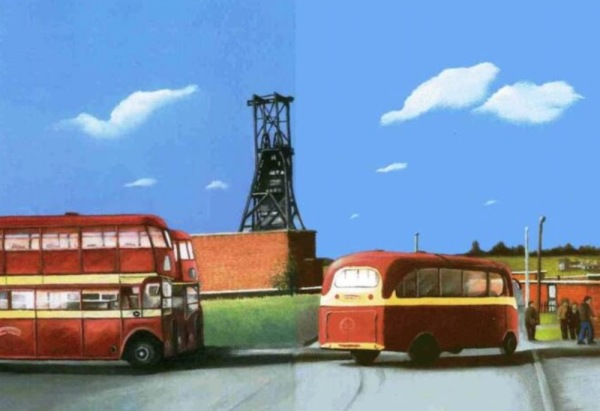 Arriving buses by Les Yates