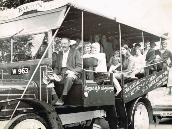 One of the first Barton's Buses on a village tour in the 70s