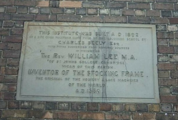 Memorial Plaque to William Lee on  the Side of the Old National School