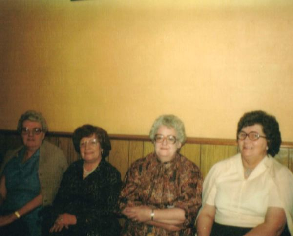 Second from the right, Joan Bailey.