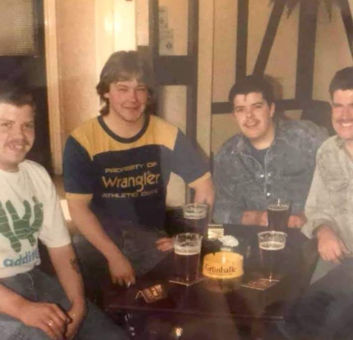 Gordon Hunter, Billy Austin, Paul Hunter and Paul Brown....